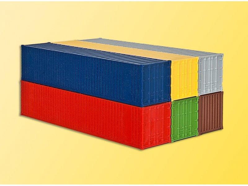 h0 40 fuss container 6 stuec kibri 10922. Black Bedroom Furniture Sets. Home Design Ideas